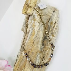 ViVl beaded chain link necklace